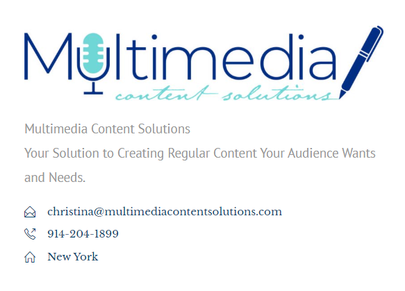 Multimedia Content Solutions Contact Info