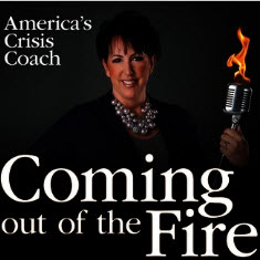 Coming Out of the Fire podcast graphic