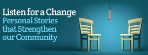 Listen for a Change Podcast graphic